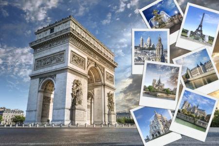 Триумфальная арка фотообои Париж (city-0001312)