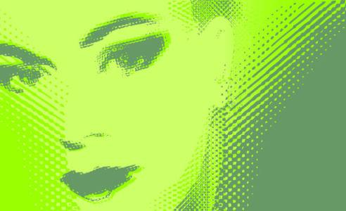Фотообои для офиса лицо женщины (commercial-00035)