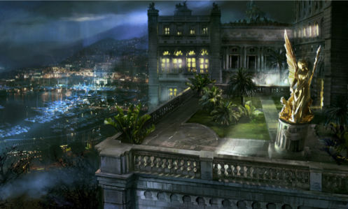 Фотообои ночной дворец на берегу моря (fantasy-0000022)