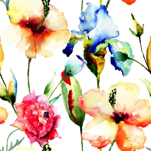 Фото обои для стен летние цветы (flowers-0000680)