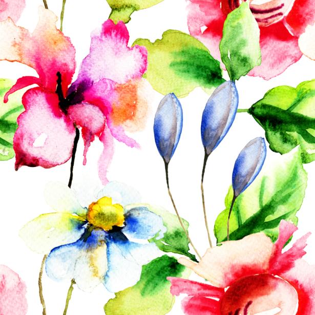 Комнатные обои летние цветы (flowers-0000682)