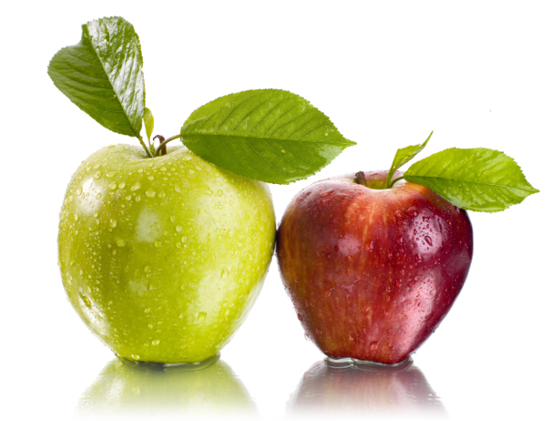 Фотообои кухня зеленое красное яблоко (food-0000191)