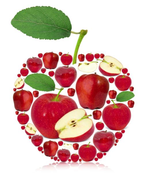 Фотообои на кухне красное яблоко (food-0000231)