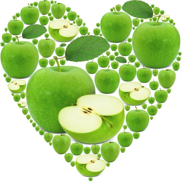 Фотообои для кухни зеленое яблоко (food-0000234)