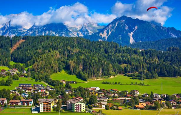 Фотообои поселок между гор (nature-0000653)