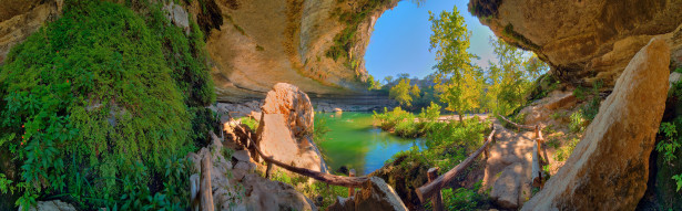 Фотообои панорама лес горы озеро (nature-00464)