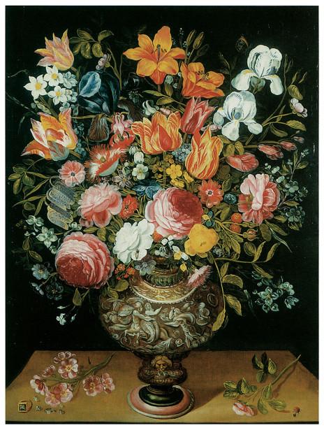 букет цветов, печать на холсте (pf-36)