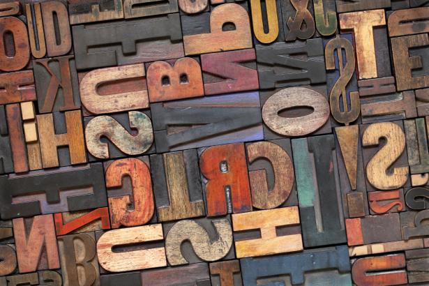 Фотообои Type буквы (retro-vintage-0000048)