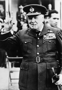Фотообои Уинстон Черчилль в форме (retro-vintage-0000356)