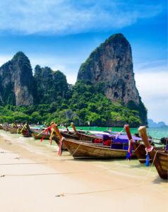 Фотообои лодки в Тайланде (sea-0000381)