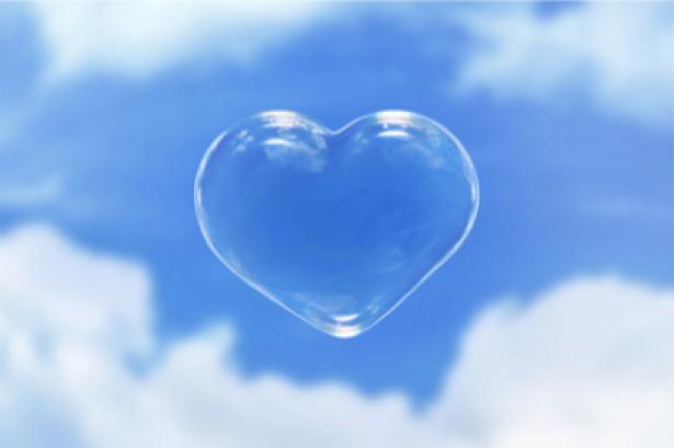 Фотообои сердечко на фоне неба (sky-0000043)