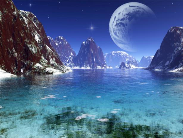 Фотообои для ванны иная планета (space-0000041)