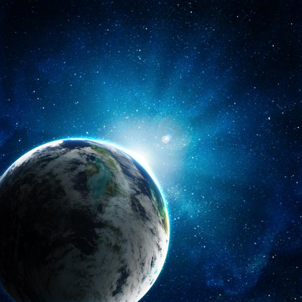 Фотообои космический пейзаж с планетой (space-0000067)
