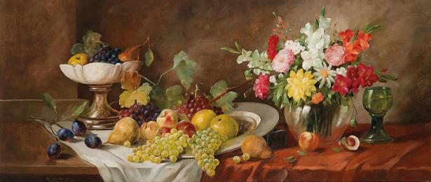 Натюрморт с фруктами и розами (still-life-0091)
