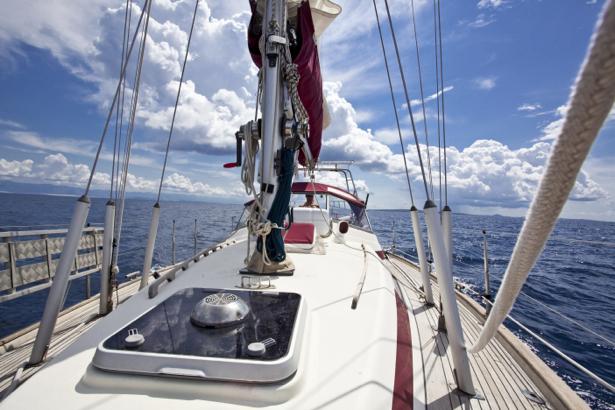 Фотообои яхта палуба (transport-0000149)