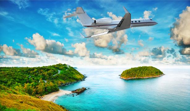 Фотообои самолет в воздухе (transport-0000253)