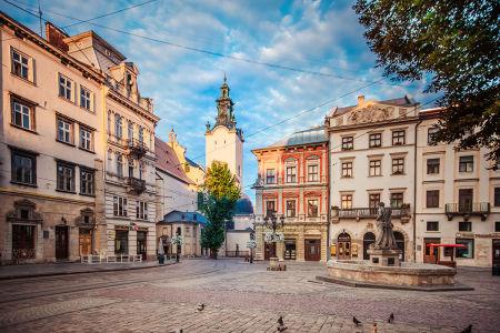 Фотообои Рыночная площадь во Львове (ukr-73)