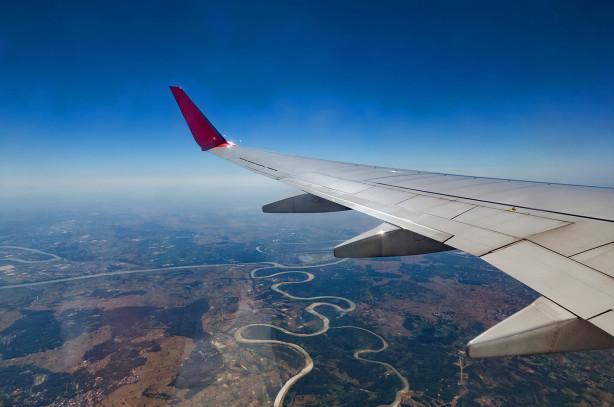 Фотообои Полет в самолете (win-19)