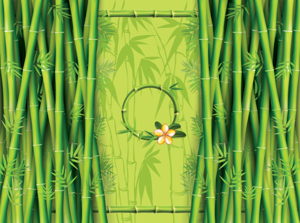 Скатерть Бамбуковые листья (0071)