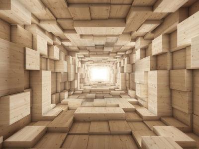 3D фотообои Деревянные бруски (3d7)