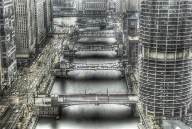 Фотообои небоскребы, река, архитектура (city-0000171)