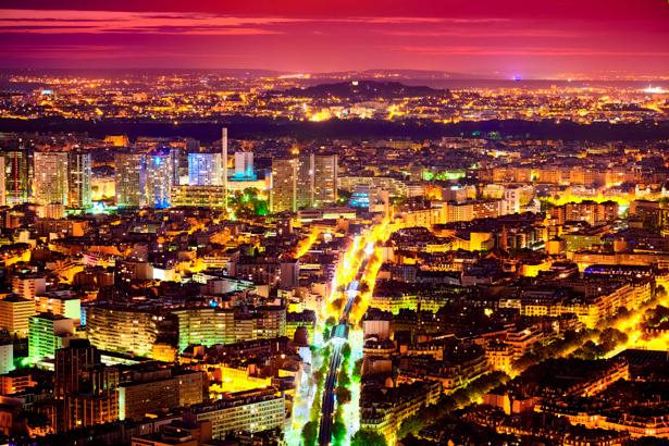 Фотообои Ночной мегаполис, дорога (city-0000272)