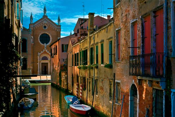 Фотообои канал в Венеции Италия (city-0000475)