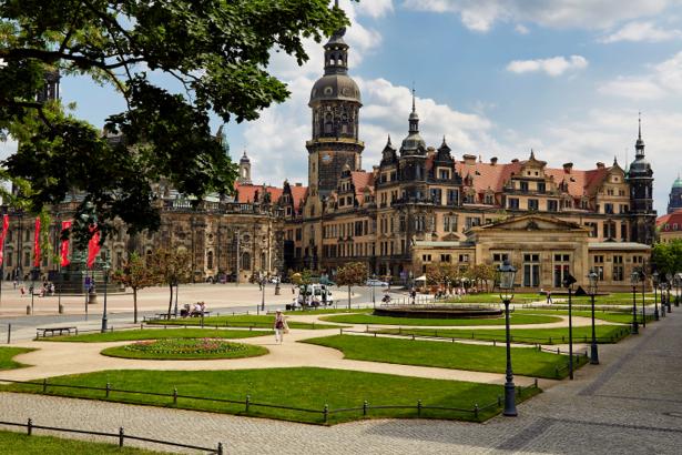 Фотообои Дрезден парк (city-0001089)