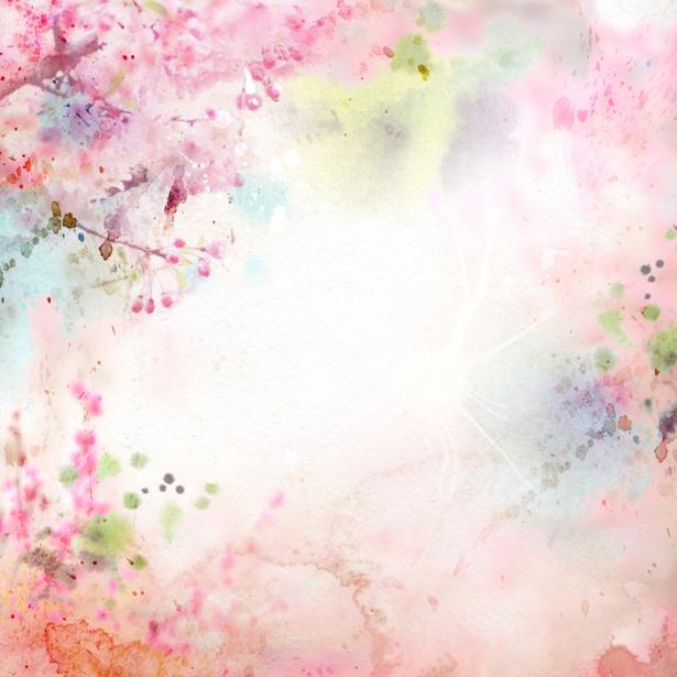 Обои на стену розовый фон из цветов (flowers-0000687)
