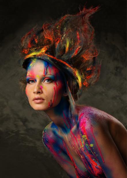 Фотообои в краске девушка (glamour-0000257)