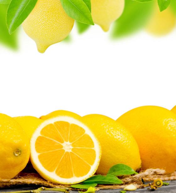 Фотошторы с лимонами (kc14)