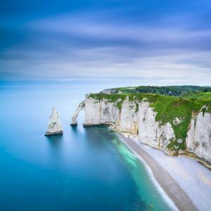 Фотообои скала Аваль Франция небо (nature-0000833)