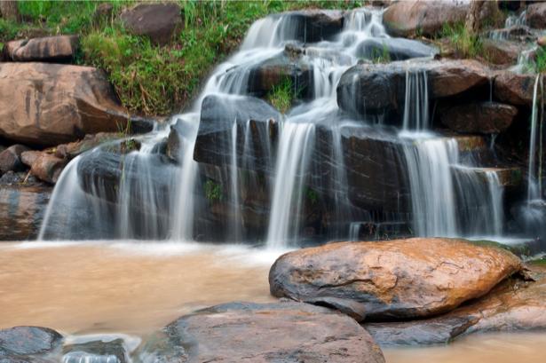 Фотообои природа красивый горный водопад (nature-00390)