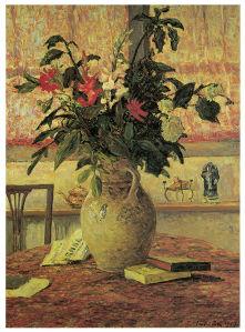 Максим Мофра Ваза с цветами на столе фотообои (pf-79)