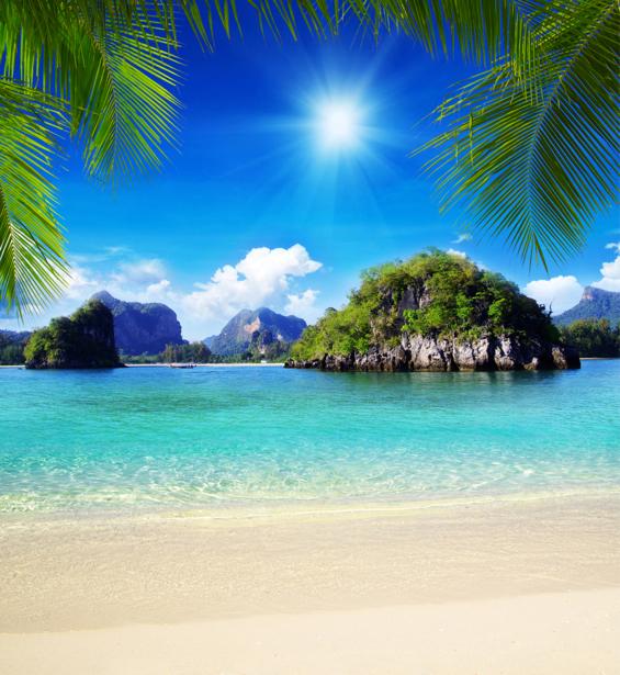 Фотообои море солнечное море остров (sea-0000341)