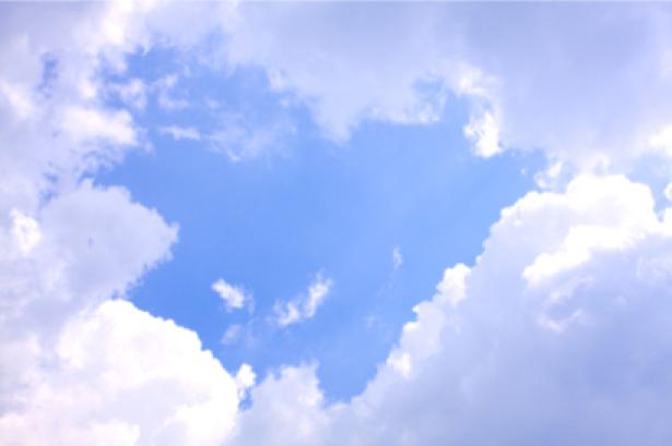 Фотообои белые облака на небе (sky-0000058)