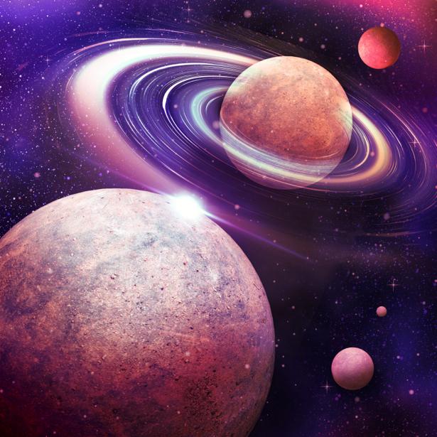 Фотообои планеты и звезды космос (space-0000024)