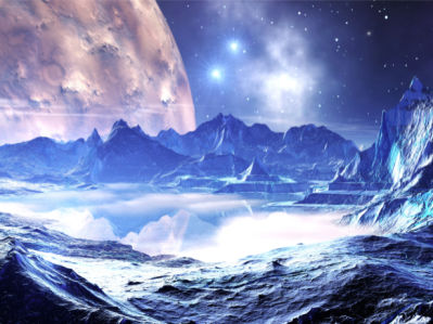 Фотообои космос планета (space-0000089)