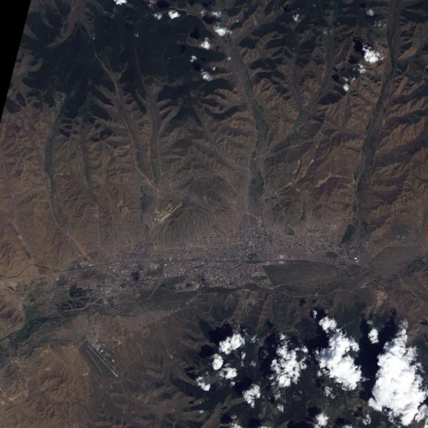 Фотообои фото NASA горы (terra-00109)