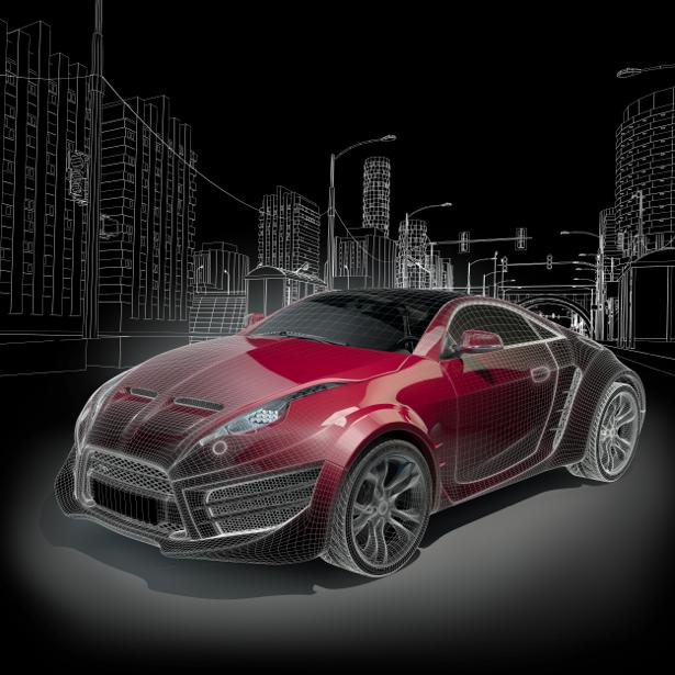 Фотообои концепт автомобиль (transport-0000185)