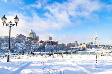 Фотообои Зимний Днепр (ukr-75)