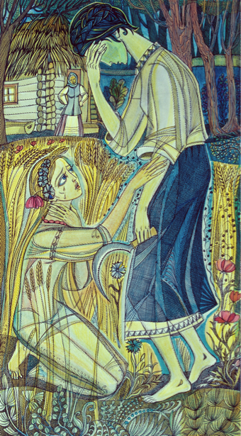 иллюстрации к произведению Л. Украинки - Лесная песня (ukraine-0169)