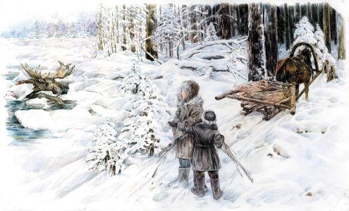 Иллюстрация к произведению Е. Гуцало - Лось (ukraine-0215)
