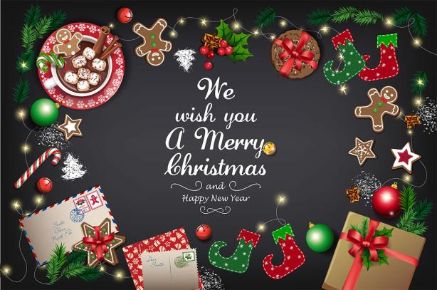 Скатерть С веселым рождеством! (214)