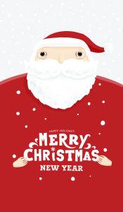 Скатерть Санта Merry Christmas (222)
