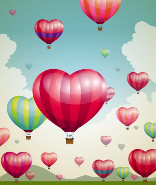 Воздушные шары детские фотообои (children-0000282)