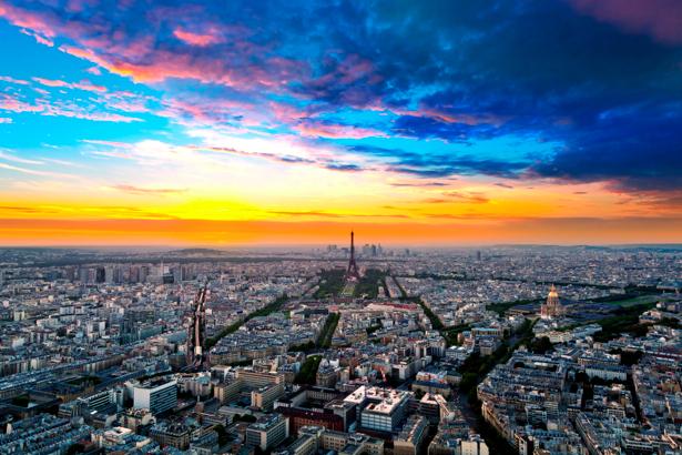 Фотообои город, Париж, Франция, Эйфелева башня (city-0000027)