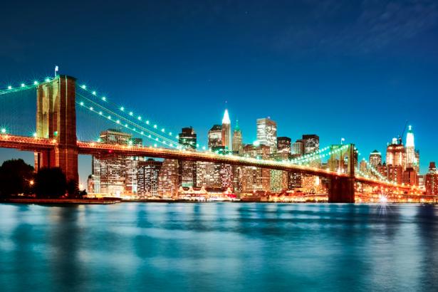 Фотообои Бруклинский мост, Нью-Йорк, США (city-0000241)