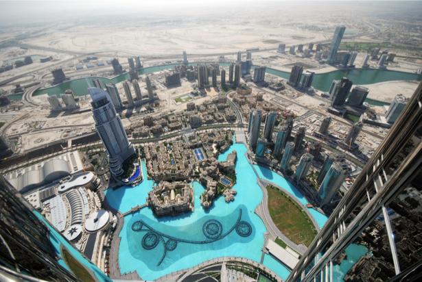Фотообои с высоты небоскрёбы дубай (city-0001175)