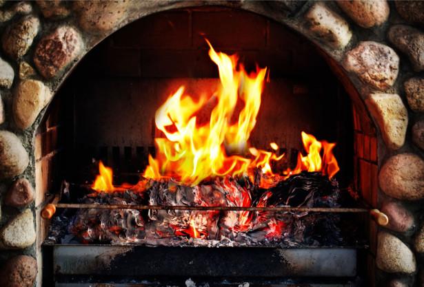 Фотообои огонь в камине (fire-006)